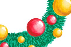 Christmas wreath Watercolor Christmas Holiday decor clipart Product Image 2