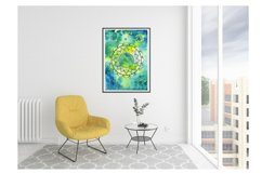 Mandala and flower of life poster, abstract watercolor Product Image 3