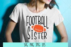 Football SVG . Football sister Product Image 1