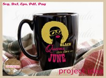 Black queens are born in June birthday t shirt design Product Image 5