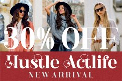 Hustle Actlife - Beautiful Serif Font Product Image 3