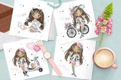 Cute Teen Girls 3, Digital Clipart, Fashion Girls, Valentine Product Image 2