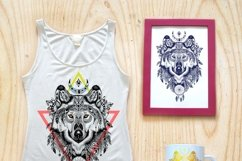 Textured animals in aztec style Product Image 2