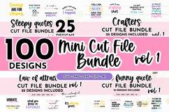 100 Designs - Mini Cut File SVG Bundle Volume 1 Colorful SVG Product Image 1