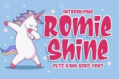 Romie Shine - a Cute Sans Serif Font Product Image 1