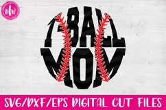 T-Ball Mom - SVG, DXF, EPS Cut Files Product Image 1