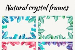 Watercolor crystals. clipart with crystals Product Image 2
