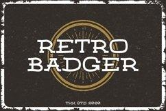RETRO BADGER - Western Font Product Image 1
