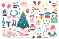Winter holidays clipart and magic Christmas Product Image 2