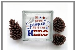I am Daddy's Princess And He Is My Hero military Child SVG Product Image 2