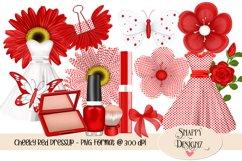 Red Polka Dot Dress Up Scrap Kit Product Image 1