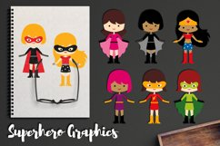 More girl superhero clipart graphics / superheroes girls Product Image 1
