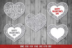 Heart SVG,Happy Valentines Day,Floral Heart,Heart Papercut Product Image 1