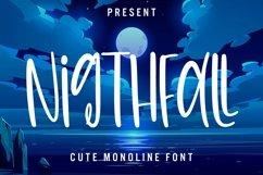Web Font Nightfall - Cute Monoline Font Product Image 1