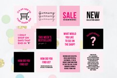 25 x Pink & Black Online Business Social Media Quotes Product Image 3