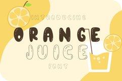 Orange juice playful font Product Image 1