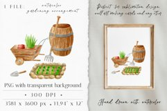 Gardening Clipart. Garden Tools PNG. Farmhouse Watercolor Product Image 3