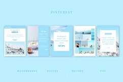 Blue | Pinterest PSD templates pack Product Image 2
