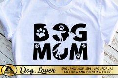 Dog Mom SVG Paw Prints SVG Dog Lover SVG Mothers Day SVG Product Image 3