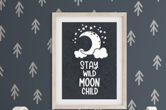 Stay wild moon child svg Moon and stars svg files for cricut Product Image 3