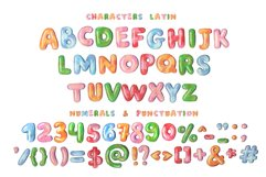 """""""Balloon"""" color bitmap font Product Image 2"""