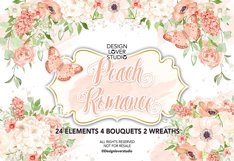 Watercolor Peach Romance design Product Image 1