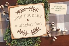 Sign Doodles - A Dingbat Font - Great For Farmhouse Signs! Product Image 1