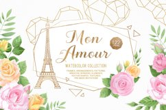 Mon Amour watercolor collection Product Image 1