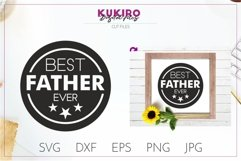 Best Father Ever SVG - Father's day cut file for cricut Product Image 1