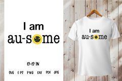 Autism Quotes. Autism Awareness SVG PNG. I am au some saying Product Image 1