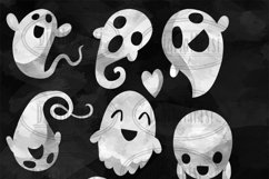 Watercolor Ghost Clipart Product Image 2