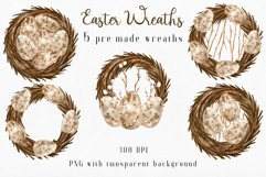 Watercolor Easter Wreaths PNG Clipart Collection. Product Image 3