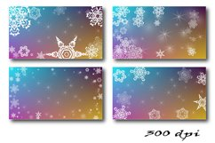 Christmas Backgrounds. 12 snowflake digital paper Product Image 3