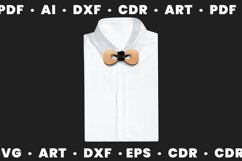 Wood bow tie svg for man and woman, Dxf files for Cnc files Product Image 4