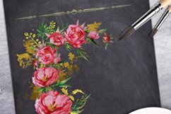 Peony and Gold leaf Product Image 4