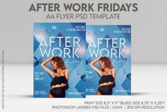 After Work Fridays A4 Flyer PSD Template Product Image 1