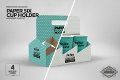 Paper Six Cup Carrier/Holder Packaging Mockup Product Image 3