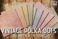 Vintage Polka Dots Digital Papers Product Image 2