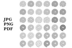Rolled Paper Flowers SVG. Rolled Flower SVG. Papercut Flower Product Image 3