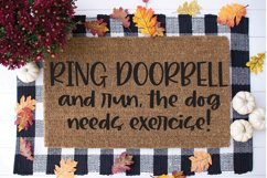 Funny Doormat SVG - Ring Doorbell and Run Product Image 1