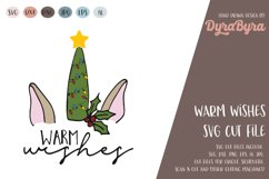 Warm Wishes SVG / Christmas SVG Cut File Product Image 2