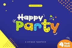 Web Font Happy Party Product Image 1