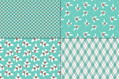 Seamless Red Blue Christmas Patterns Product Image 2