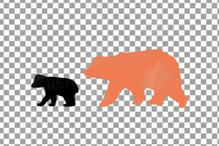 Baby and mama bear nursery clip art collection, bears print Product Image 7