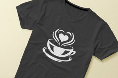 Coffee beans and cups silhouettes and icons bundle Product Image 3
