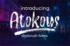 Atokous | Drybrush Fonts Product Image 1