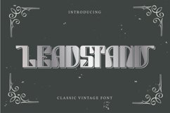 Leadstand | Classic Vintage Font Product Image 1