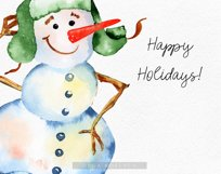 Watercolor snowman clipart, Cute Christmas diy Winter Product Image 5