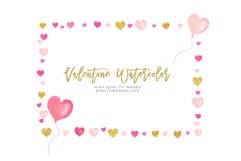 Pink Valentines frames, Heart wreaths, Pink borders clipart Product Image 3