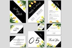 Asymmetric Tulips Wedding Invitation Kit Product Image 1